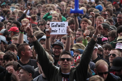 der freitag am ring - ROCK AM RING 2012: Fotos von Linkin Park, Gossip, Soundgarden, Anthrax, Cypress Hill u.a.